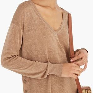 J. Crew Linen Viscose Blend Sheer Sweater Size XXS